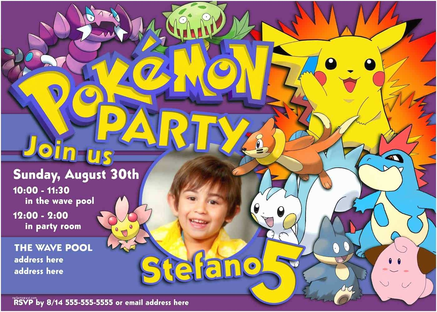 photograph about Pokemon Posters Printable named Pokemon Birthday Get together Invites No cost Printable Invitation