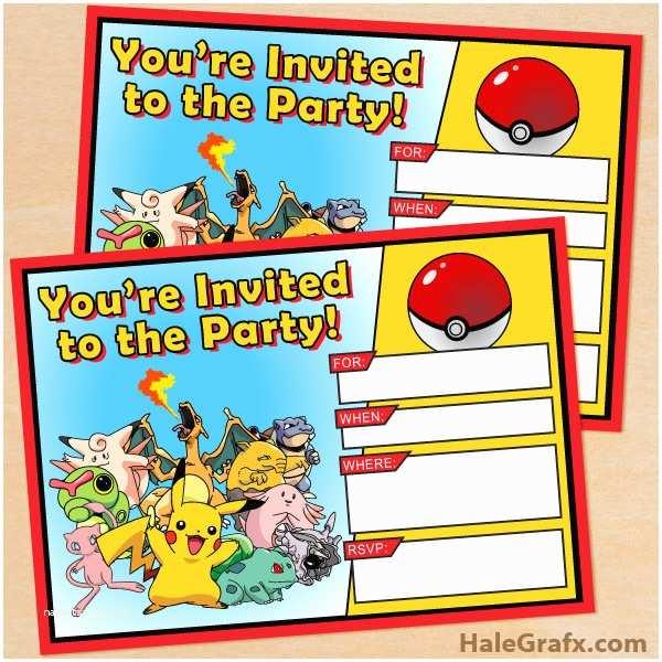 Pokemon Birthday Party Invitations Free Printable Pokémon Birthday Invitation