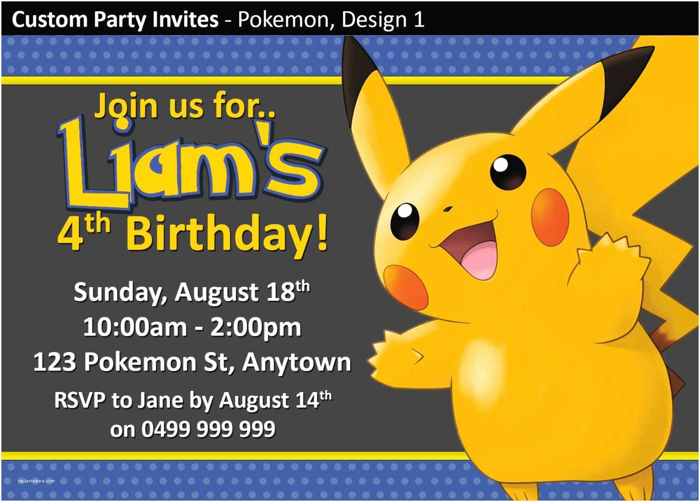 Pokemon Birthday Party Invitations Make Your Own Pokemon Birthday Invitations