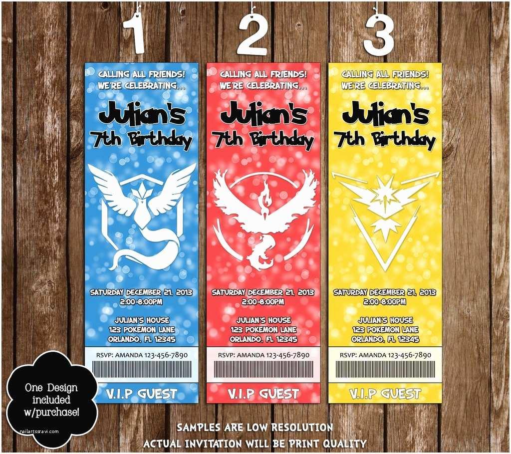 Pokemon Birthday Party Invitations Novel Concept Designs Pokemon Go Pick Your Team