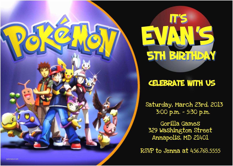 Pokemon Birthday Party Invitations Pokemon Birthday Invitations Free