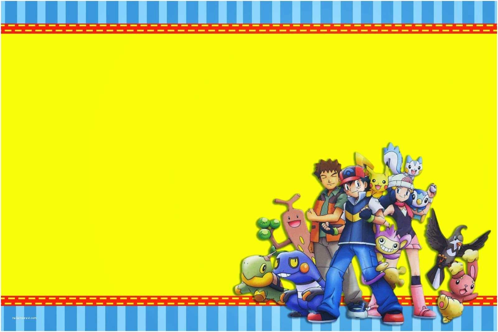 Pokemon Birthday Party Invitations Pokemon Birthday Party Invitations Printable — Criolla
