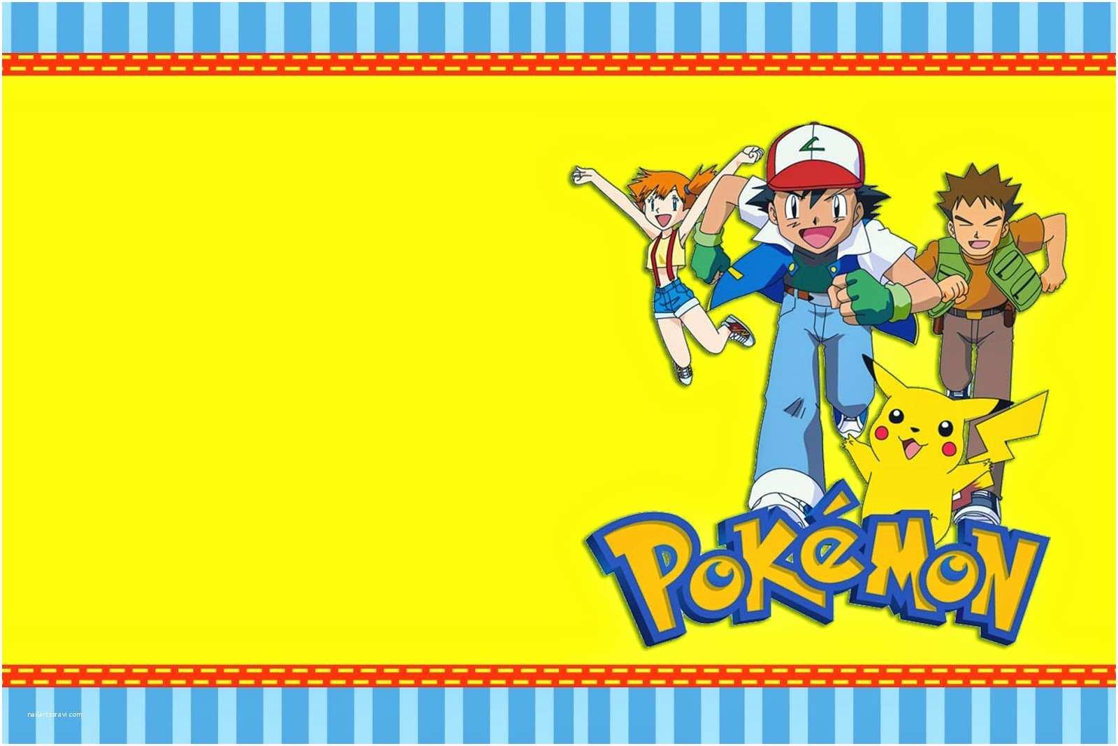Pokemon Birthday Party Invitations Pokemon Birthday Party Invitations Templates
