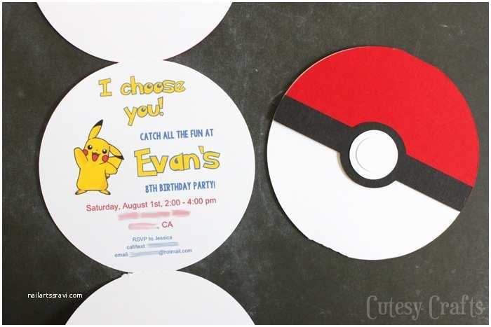 Pokemon Birthday Party Invitations Pokemon Birthday Party Invitations with Free Silhouette
