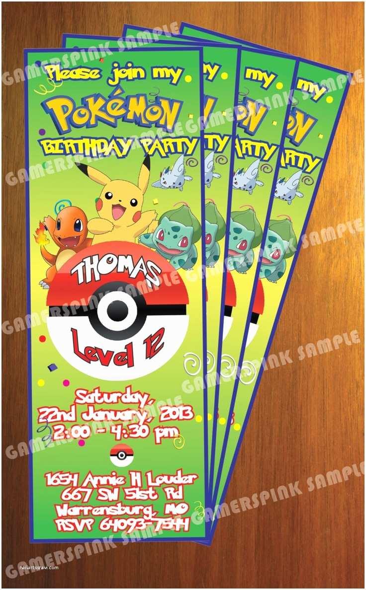 Pokemon Party Invitations 112 Best Pokémon Party Ideas Images On Pinterest