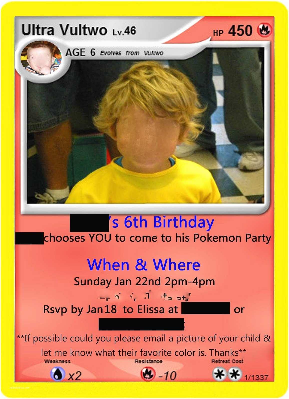 Pokemon Party Invitations Just A Frugal Mom Pokemon Birthday Party