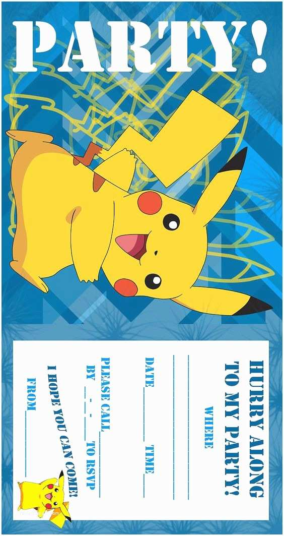 Pokemon Party Invitations Pokemon Coloring Pages Birthday Party Invitation Free and
