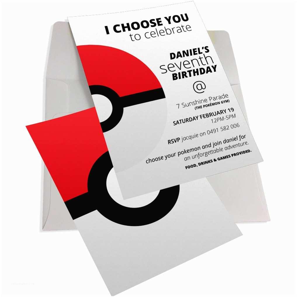 Pokemon Wedding Invitations Pokémon Birthday Party Collection Inc Invitations