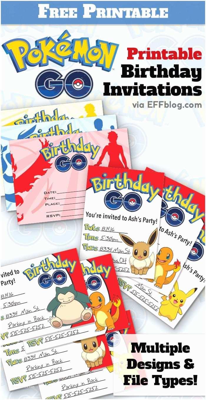Pokemon Wedding Invitations Pokémon Go Birthday Go Free Printable Invitations