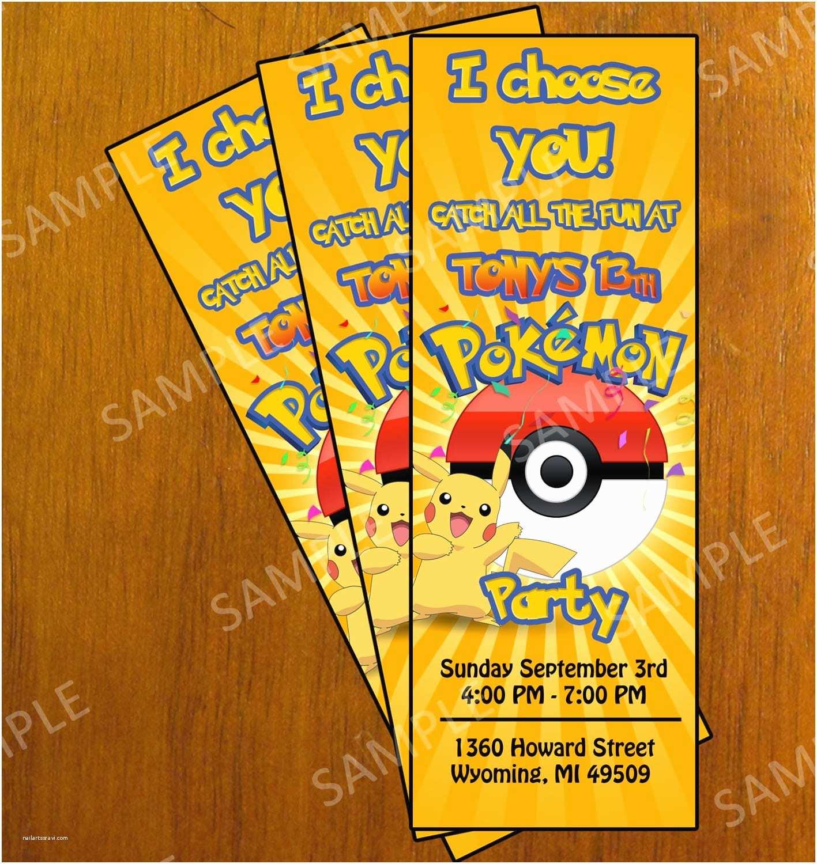 Pokemon Wedding Invitations Pokemon Invitation Printable Free