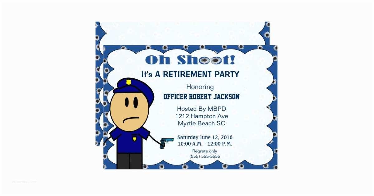 Police Wedding Invitations Funny Police Ficer Retirement Invitation