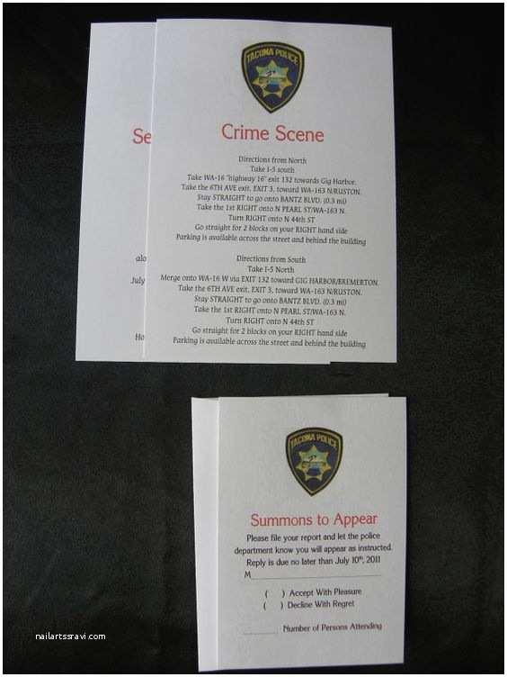 Police Wedding Invitations Police File Wedding Invitation Suite Fun and Unique