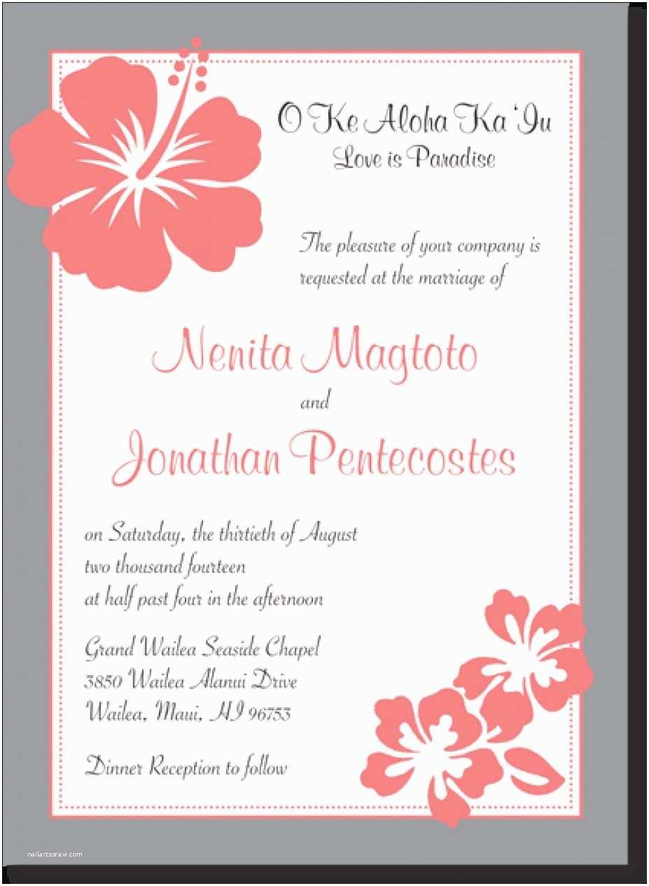 Polynesian Wedding Invitations 28 Graphs Hawaiian Wedding Invitations Marvelous