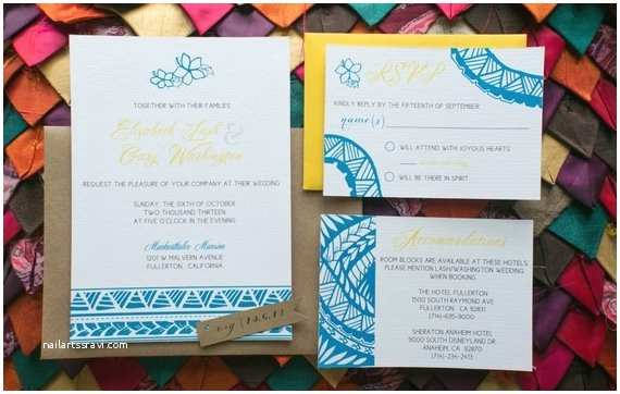 Polynesian Wedding Invitations Custom Samoan Inspired Wedding Invitation Reserved
