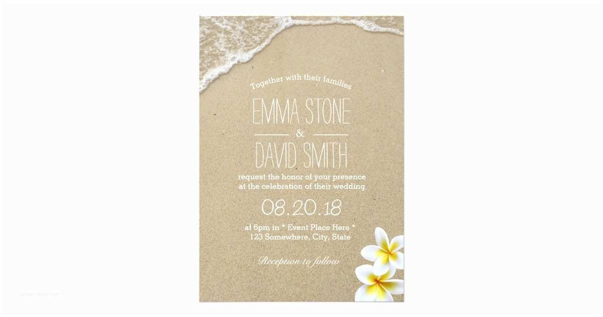Polynesian Wedding Invitations Hawaiian Beach Destination Wedding Invitations