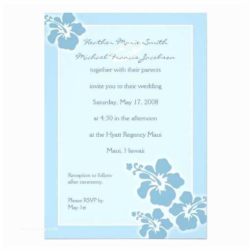 """Polynesian Wedding Invitations Hawaiian Hibiscus Wedding Invitation 5"""" X 7"""" Invitation"""