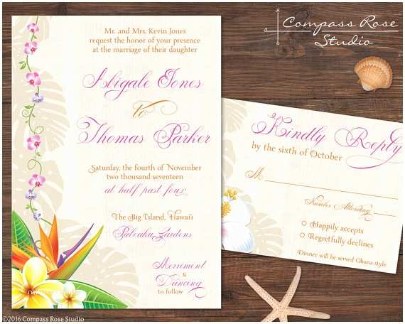 hawaiian wedding invitation suites