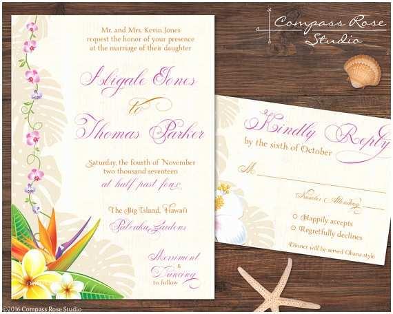 Polynesian Wedding Invitations Hawaiian Wedding Invitation Suites Tropical Invitations