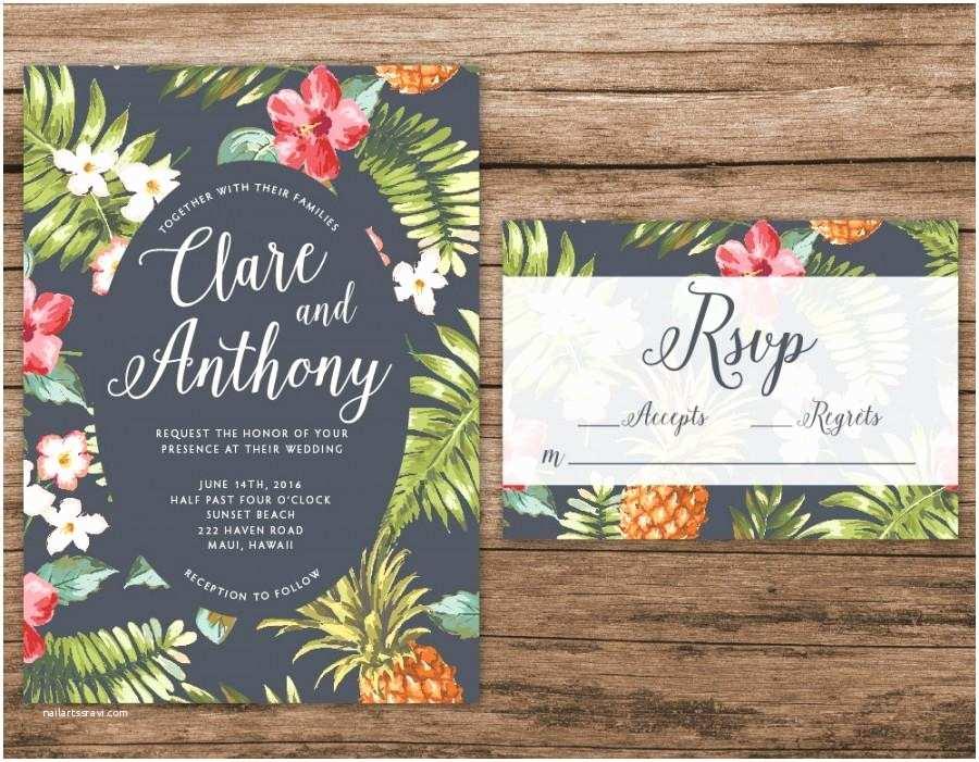 Polynesian Wedding Invitations Imposing Hawaiian Wedding Invitations