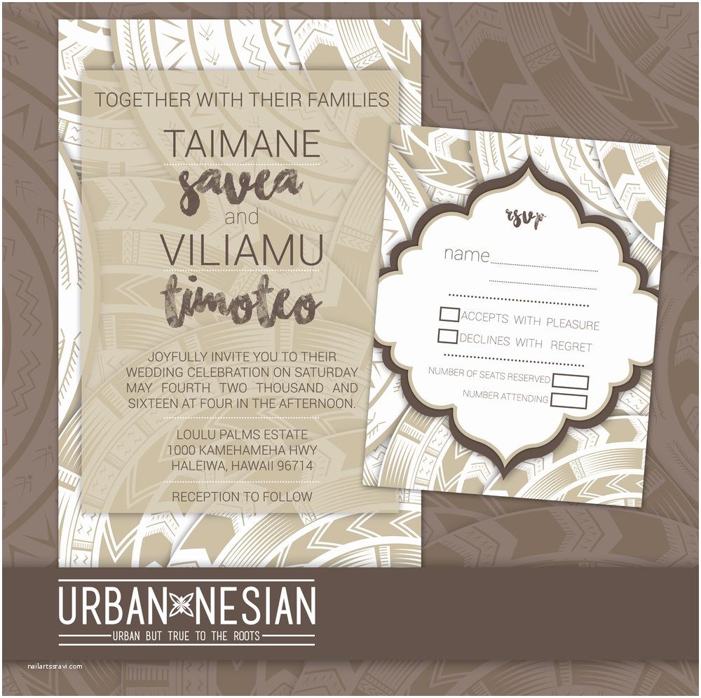 Polynesian Wedding Invitations Lainee Fagafa Portfolio