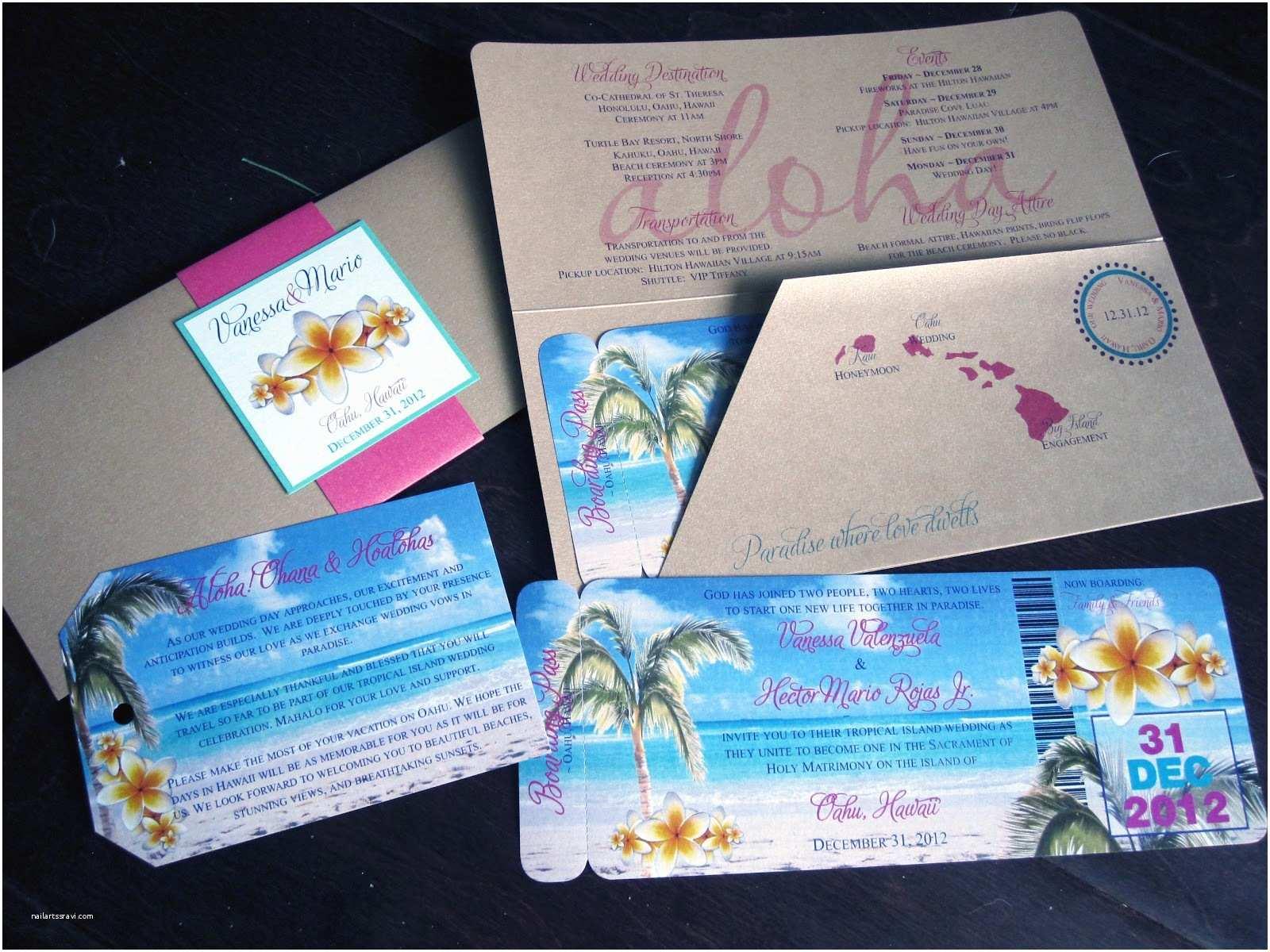 Polynesian Wedding Invitations Rustic Custom Hawaiian Wedding Invitations Invitations