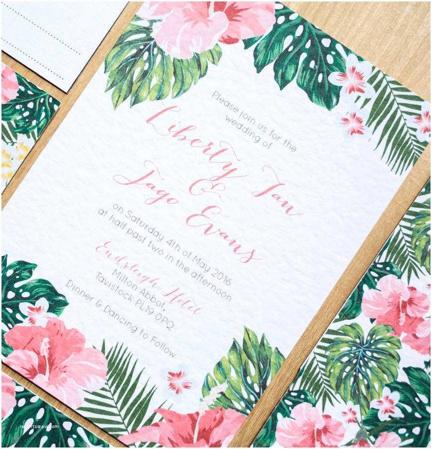 Polynesian Wedding Invitations Tropical Hawaiian Wedding Invitation by sincerely May