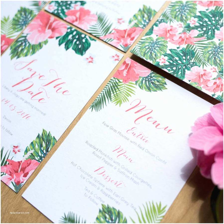 Polynesian Wedding Invitations Tropical Hawaiian Wedding Invitation by sincerely May