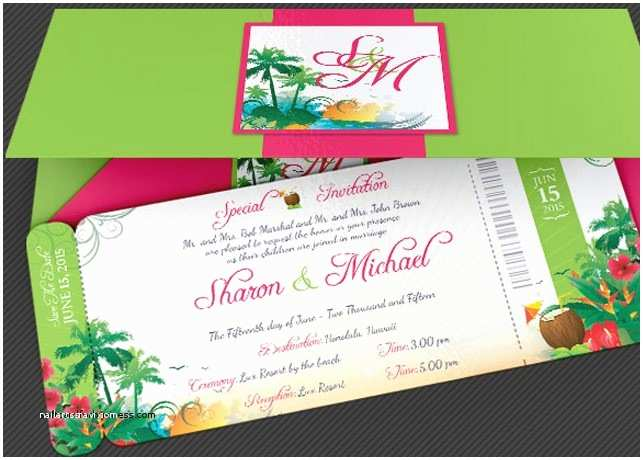 Polynesian Wedding Invitations Wedding Invitation Unique Hawaiian Wedding Invitation