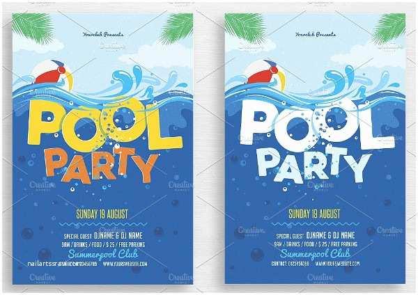 Pool Party Birthday Invitations Printable Pool Party Invitations – Gangcraft