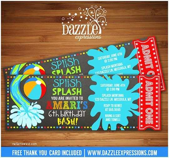 Pool Party Invitation Ideas Best 25 Water Party Invitations Ideas On Pinterest