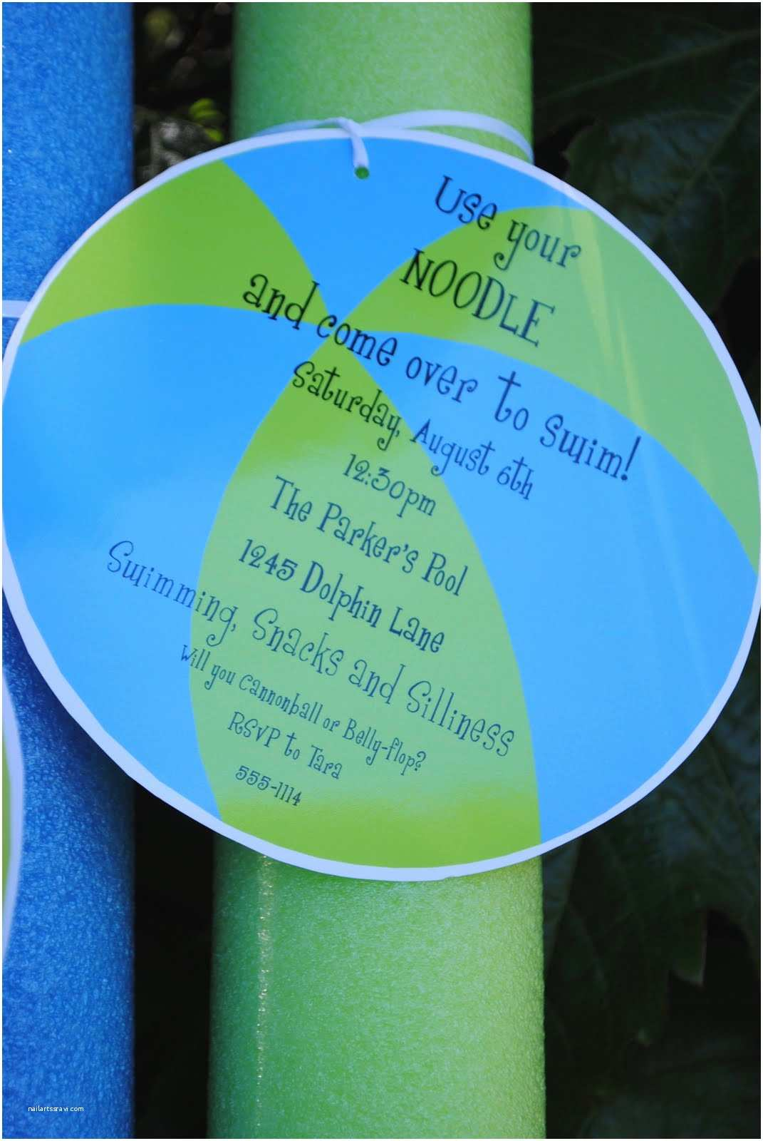 Pool Party Invitation Ideas Jac O Lyn Murphy Using Your Noodle for A Swim Party Craft