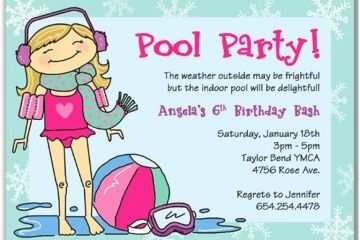 Pool Party Invitation Ideas Wording