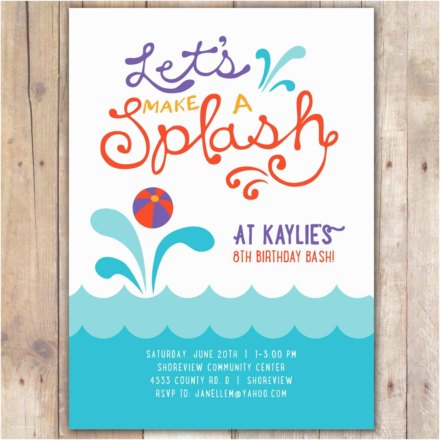 Pool Party Invitation Template Pool Party Invitations Pool Party Invitations Using An