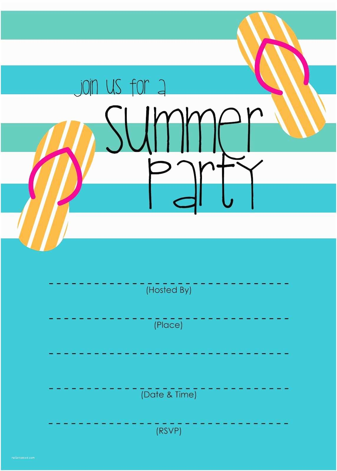 Pool Party Invitation Template Summer Party Invitation – Free Printable
