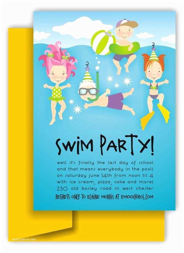 Pool Party Invitation Wording Birthday Boy