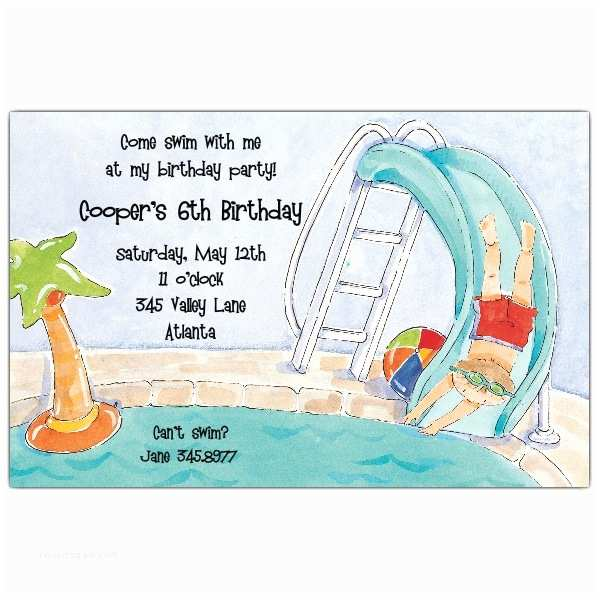 Pool Party Invitation Wording His Invitations