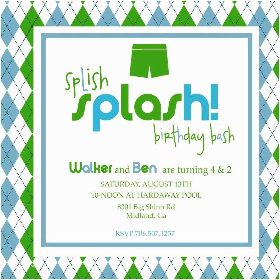 Pool Party Invitation Wording Indoor