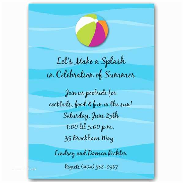 Pool Party Invitation Wording Pool Party Invitation Wording