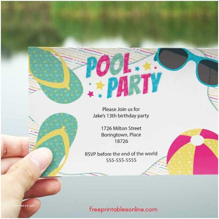 Pool Party Invitations 25 Best Ideas About Swim Party Invitations On Pinterest