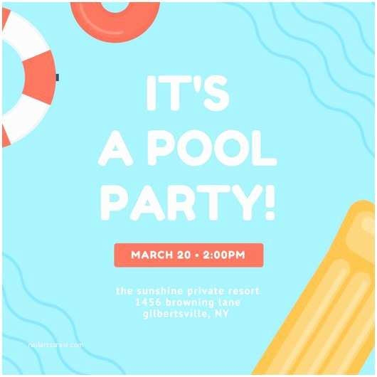 Pool Party Invitations Customize 3 998 Pool Party Invitation Templates Online