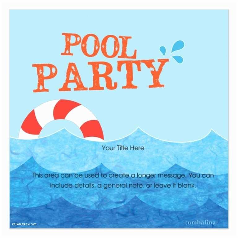 Pool Party Invitations Free Invitation Template