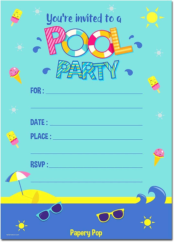 Pool Party Invitations Pool Party Invitations with Envelopes 15 Count Kids
