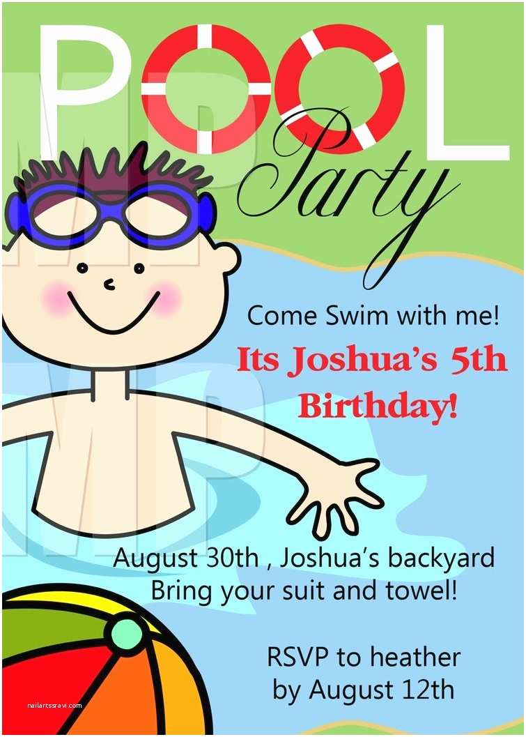 Pool Party Invitations Templates Free Free Printable Birthday Party Invitations Template