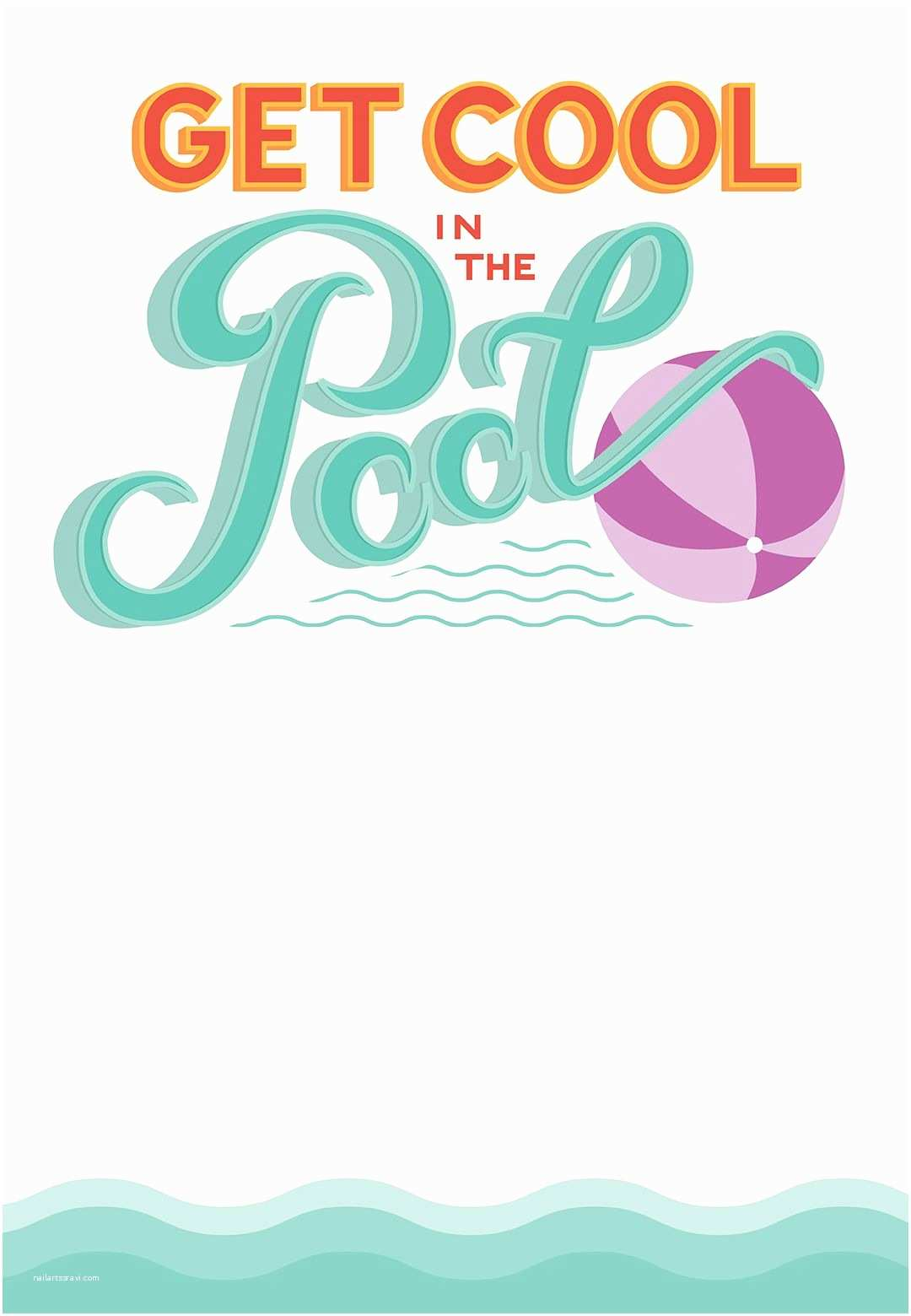 Pool Party Invitations Templates Free Pool Party Free Printable Party Invitation Template