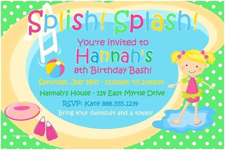 Pool Party Invitations Templates Free Pool Party Invitation Template – Gangcraft