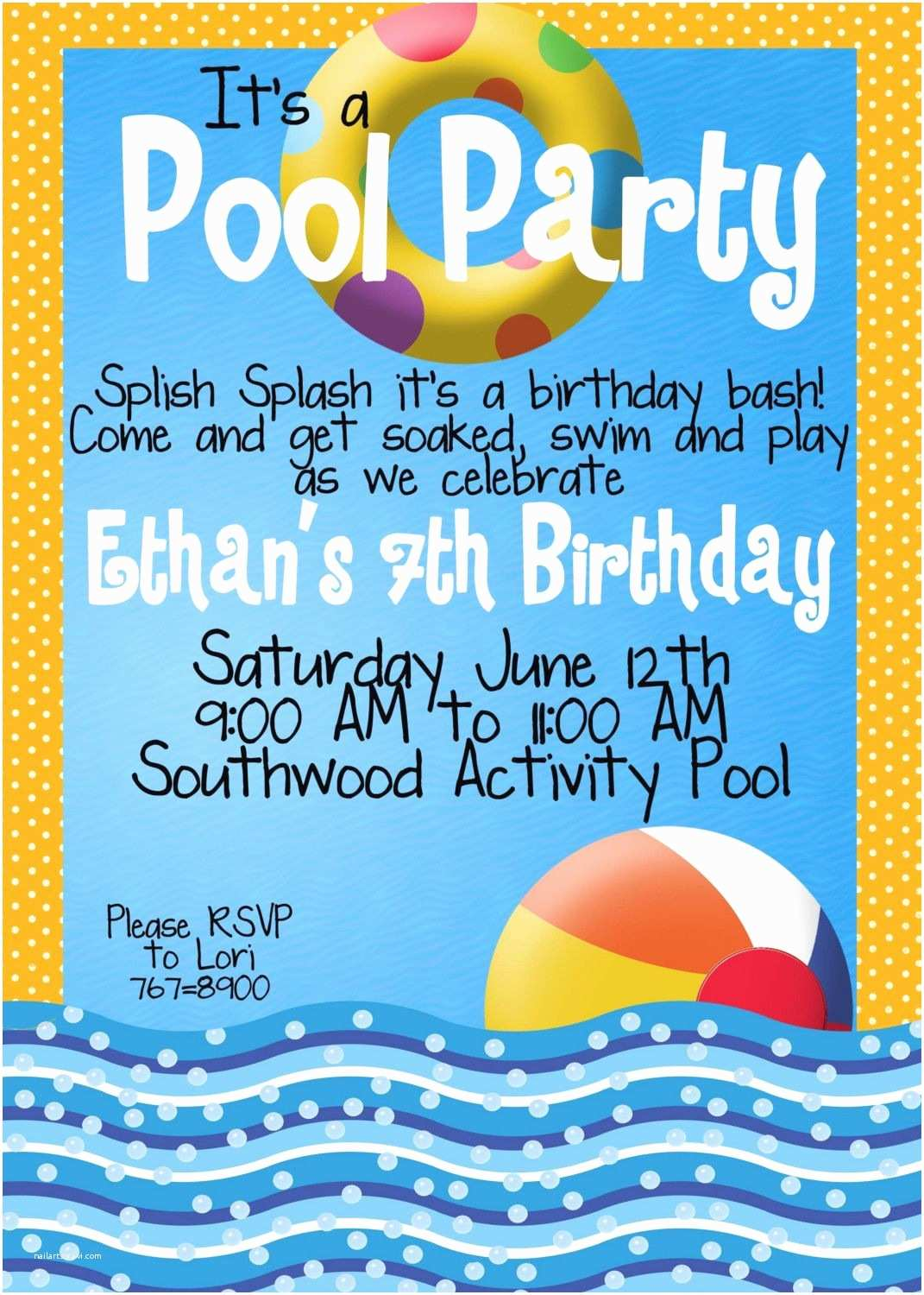 Pool Party Invitations with A Few Tweaks Pool Party Invitations