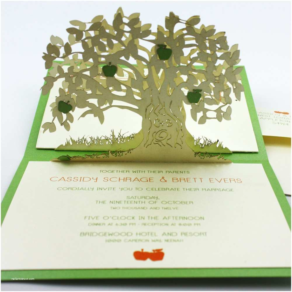 Pop Up Wedding Invitations Amazing Wedding Invitation Pop Up Card Invites 1