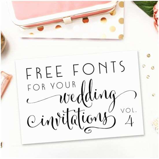Popular Wedding Invitation Fonts A New Collection Of Pletely Free Fonts for Your Wedding