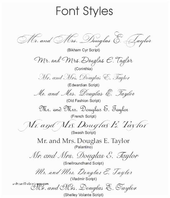 Popular Wedding Invitation Fonts Wedding Invitation New Font for Wedding Invitations