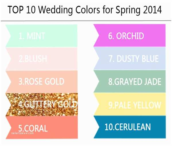 Popular Wedding Invitations top 10 Wedding Colors Ideas and Wedding Invitations for